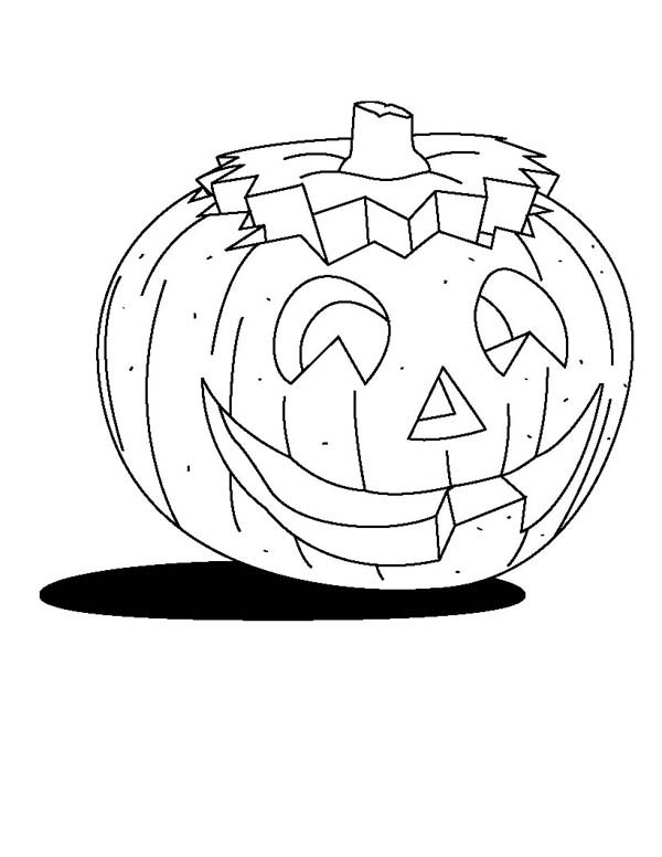Pumpkins, : Picture of Pumpkins Coloring Page