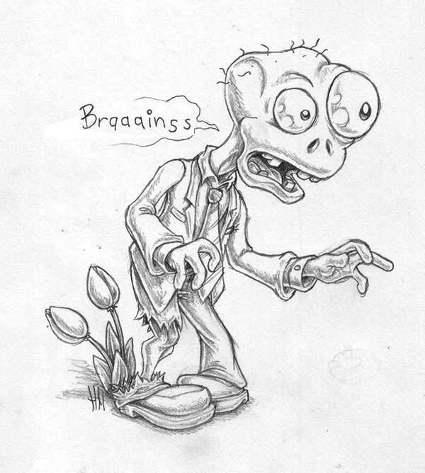 Plants Vs Zombies Zombie Coloring Page Kids Play Color
