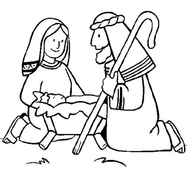 Baby Jesus, : Shepperd Praise Baby Jesus Coloring Page
