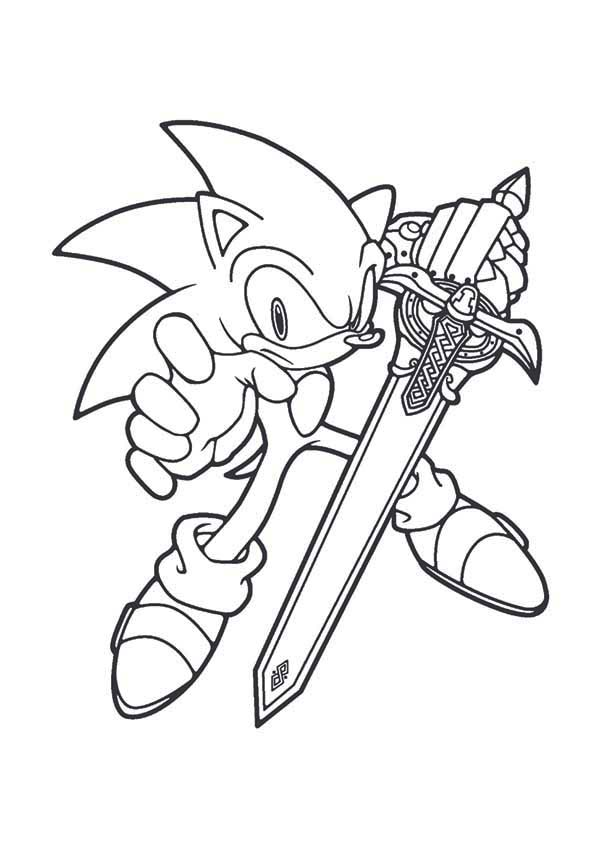 Sonic the Hedgehog, : Sonic Blade Coloring Page