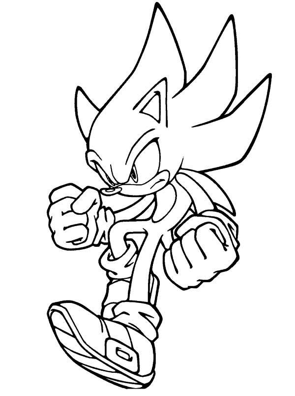 Sonic the Hedgehog, : Sonic Jumps Coloring Page