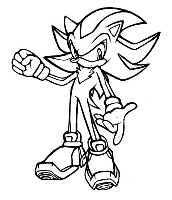 Sonic the Hedgehog, : Sonic Long Hair Coloring Page