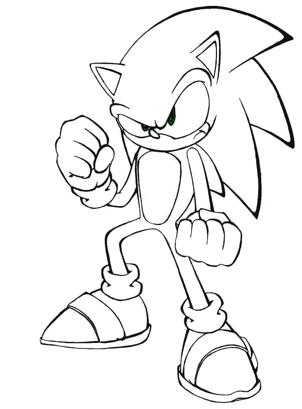 Sonic the Hedgehog, : Sonic the Hedgehog Never Give Up Coloring Page