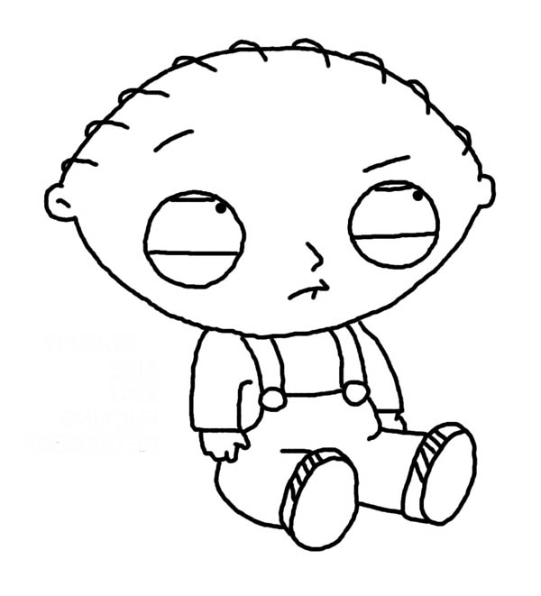 Stewie Is Sad In Family Guy Coloring
