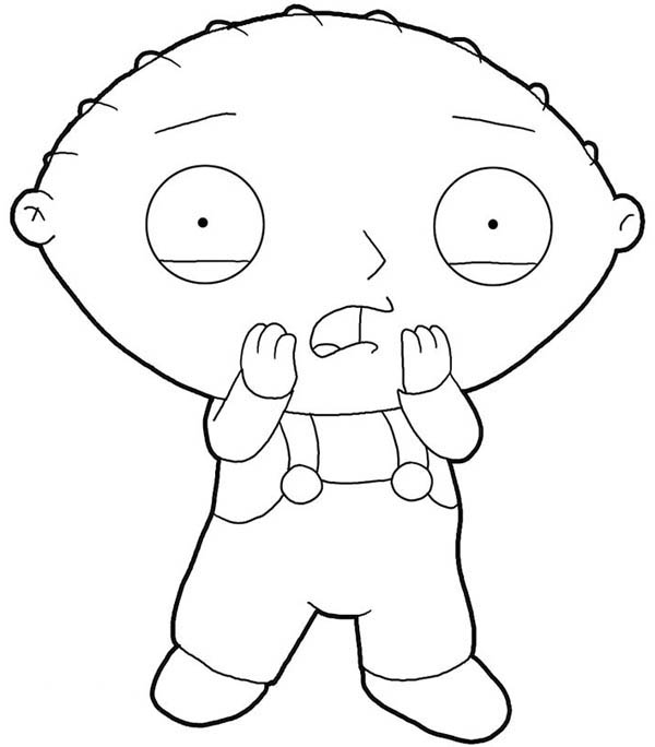 coloring pages family guy stewie | Stewie Is Surprised In Family Guy Coloring Page : Kids ...
