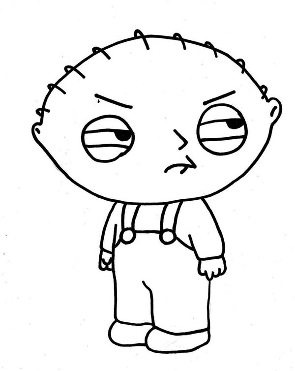 Family Guy, : Stewie not in Good Mood in Family Guy Coloring Page