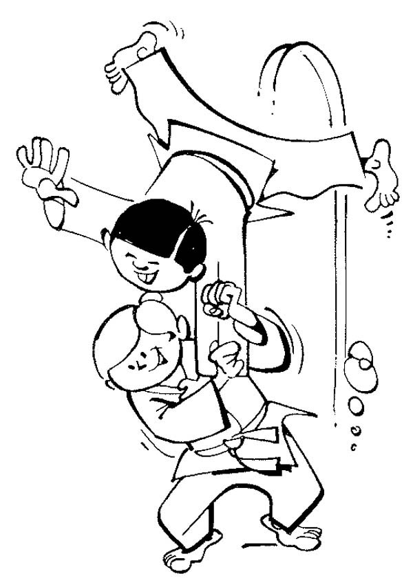 Karate Kid, : Sub Mission Attack in Karate Kid Coloring Page
