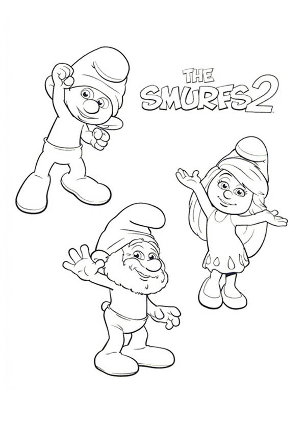 The Smurf, : The Adventure of Smurf Coloring Page