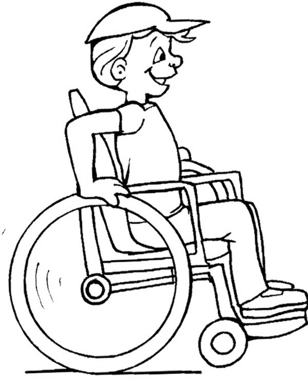 Disability, : The Children with Disability Should Never Sad Coloring Page