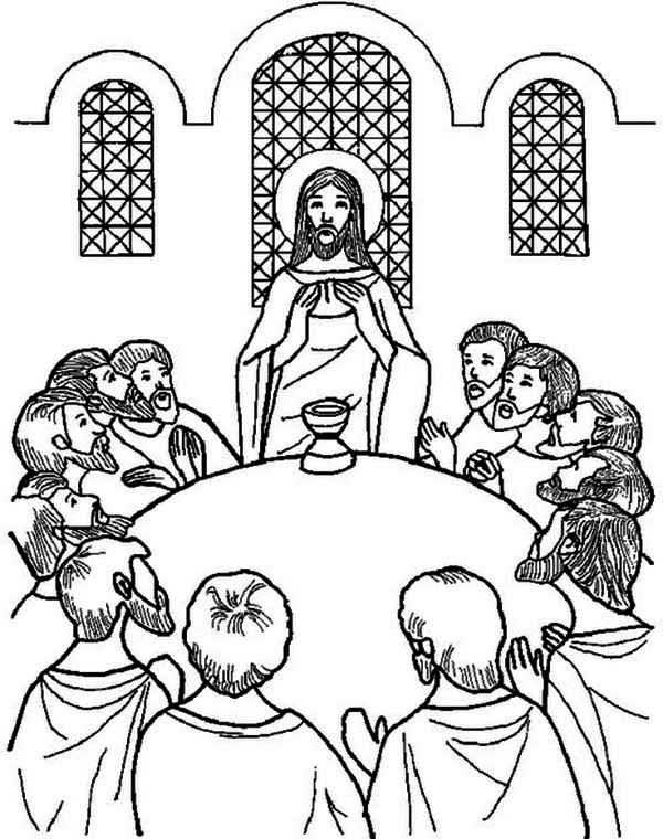 Last Supper, : The Last Supper Coloring Page