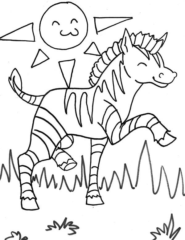 Zebra, : Two Zebra in Savannas Coloring Page