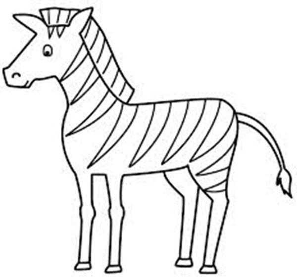 Zebra, : Zebra Horse Coloring Page