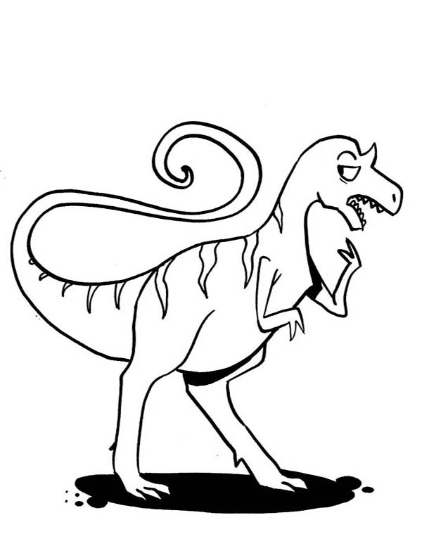 Allosaurus, : Allosaurus is Confusing Coloring Page