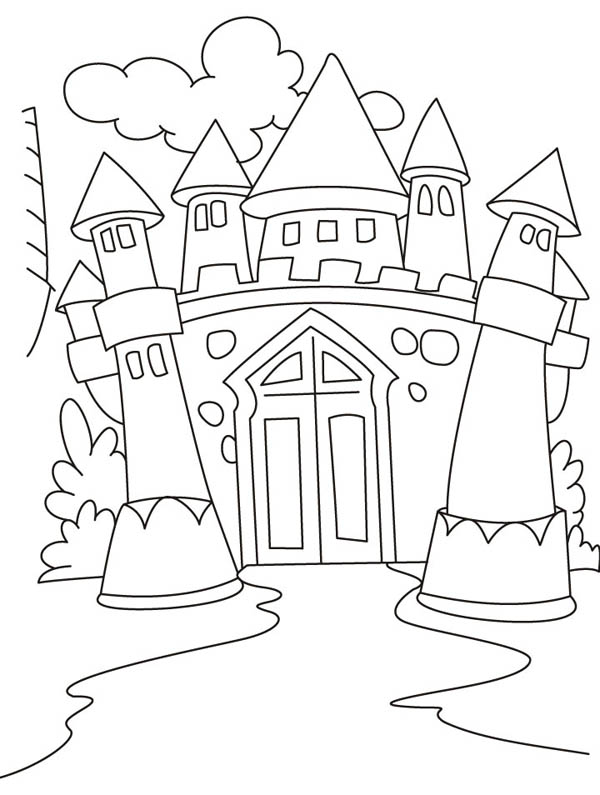 Awesome Drawing Medieval Castle Coloring Page : Kids Play ...