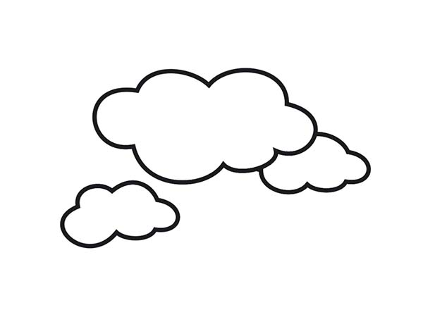 Clouds, : Awesome Shape of Clouds Coloring Page