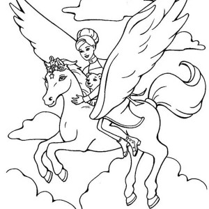 barbie unicorn coloring pages - photo#18