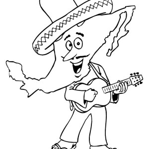 Little Mexican Boy In Mexican Fiesta Coloring Page : Kids ...