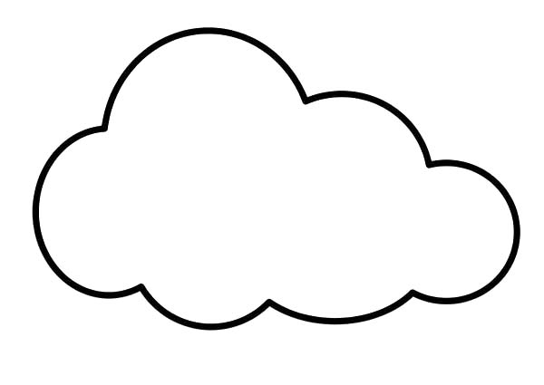 Clouds, : Clouds is So Soft Coloring Page