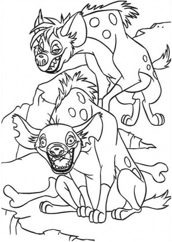 Hyena, : Cunning Hyena Coloring Page
