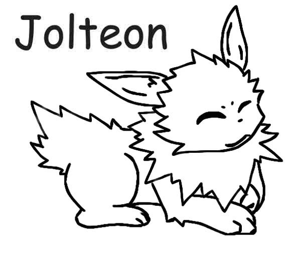 Jolteon, : Cute Jolteon Coloring Page
