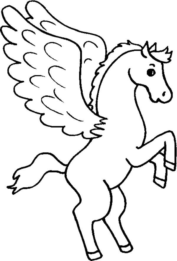 Cute Pegasus Coloring Page Kids Play Color
