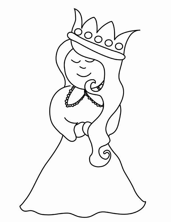 Queen Esther, : Cute Picture of Esther Coloring Page
