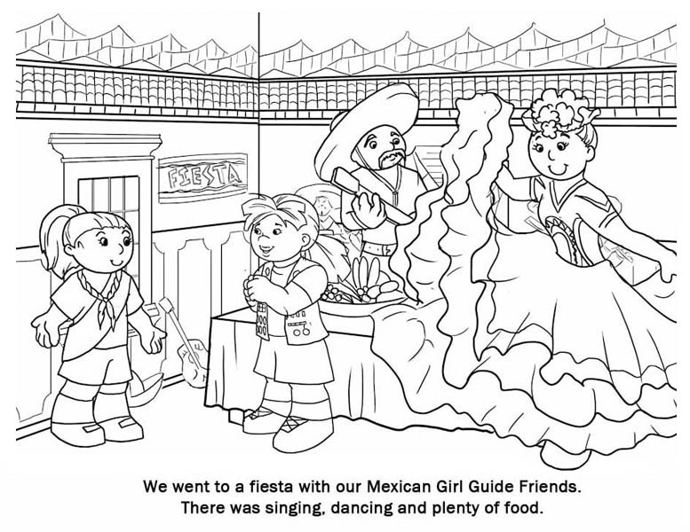 Mexican Fiesta, : Glorious Mexican Fiesta Coloring Page