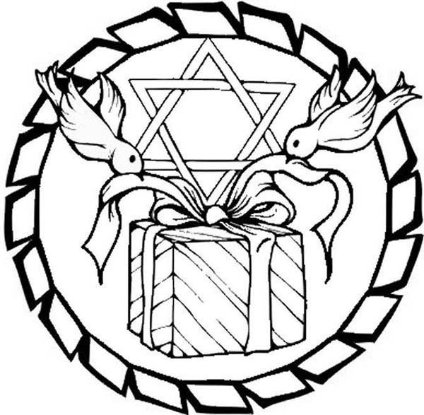 Chanukah, : Happy Chanukah Day Coloring Page