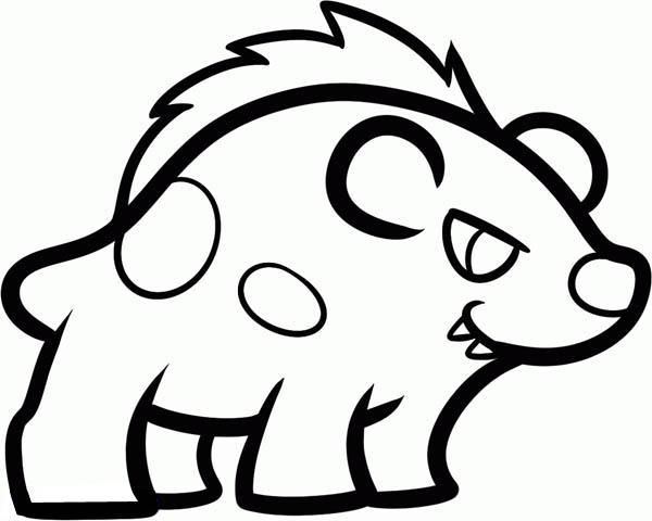 Hyena, : Hyena Drawing Coloring Page