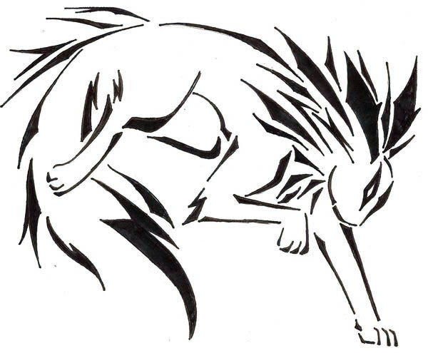 Jolteon, : Jolteon Art Tattoo Coloring Page