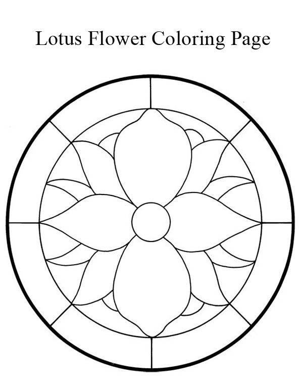 Lotus Flower, : Lotus Flower Mandala Coloring Page