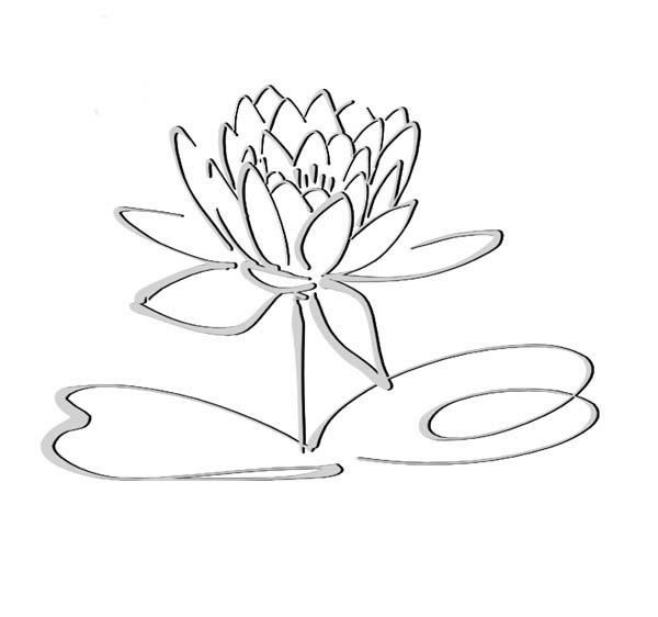 Lotus Flower, : Lotus Flower Sub Merged Coloring Page