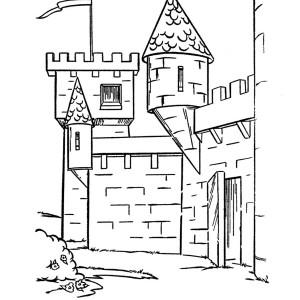Medieval Castle Front Gate Coloring