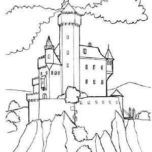 Wonderful Drawing Medieval Castle