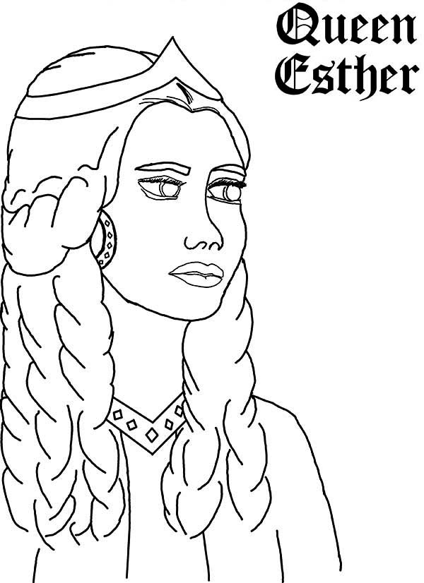 Queen Esther, : Queen Esther Picture Coloring Page