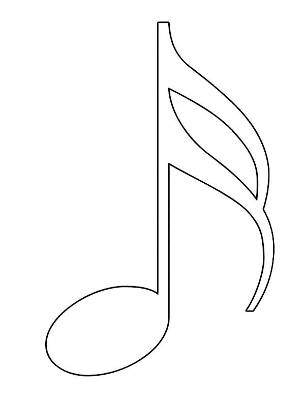 Music Notes, : Sixteenth Note in Music Notes Coloring Page