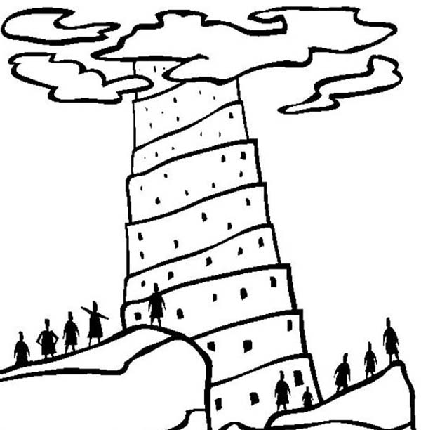 Tower of Babel, : The Guardian of Tower of Babel Coloring Page
