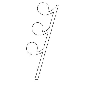 Thirty Secod Rest On Music Notes Coloring Page Kids Play Color