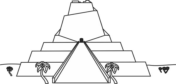 Tower of Babel, : Tower of Babel Picture Coloring Page
