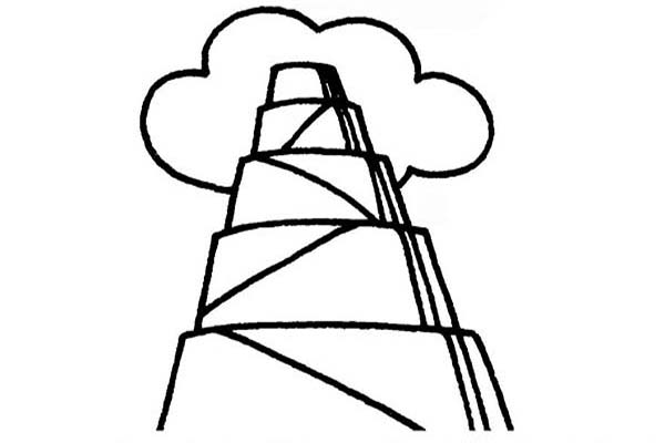 Tower of Babel, : Tower of Babel Top Reach Heaven Coloring Page