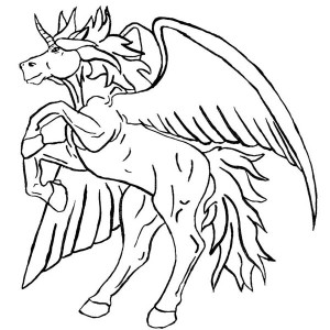 Cute Baby Pegasus Coloring Page : Kids Play Color