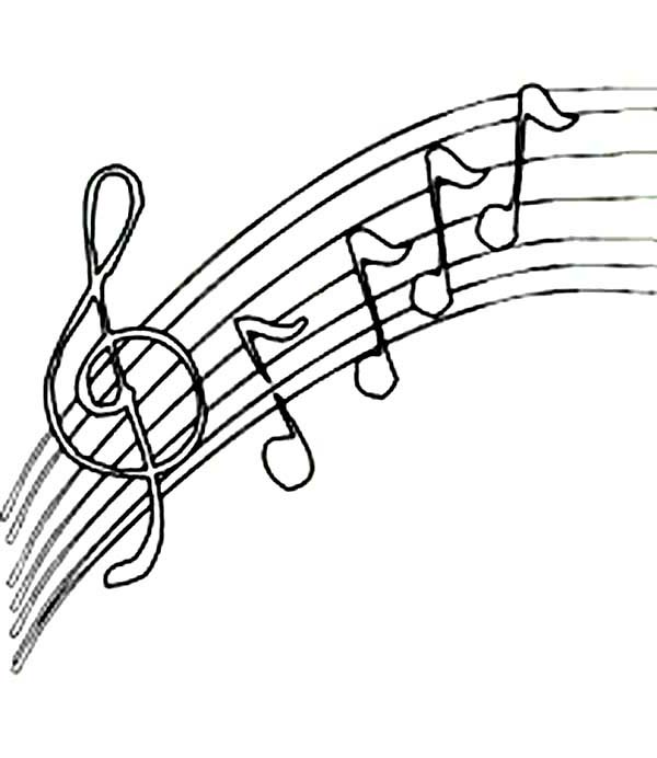 Music Notes, : Upside Down Music Notes Coloring Page