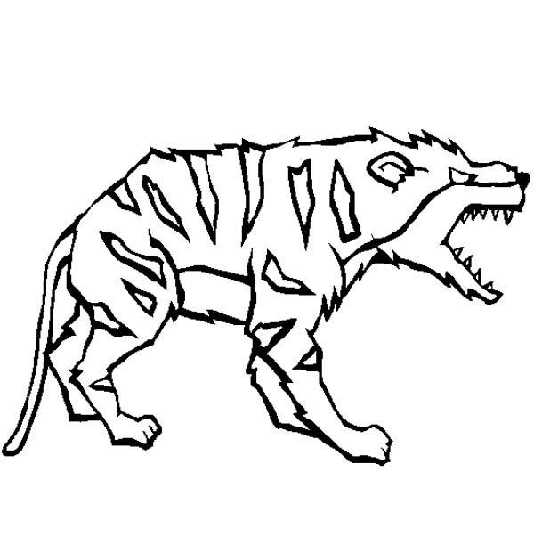 Hyena, : Vicious Hyena Coloring Page