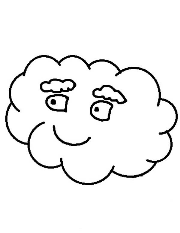 Clouds, : White Eyebrowed Clouds Coloring Page