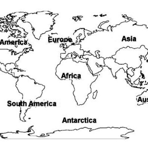 Globe World Map Coloring Page : Kids Play Color