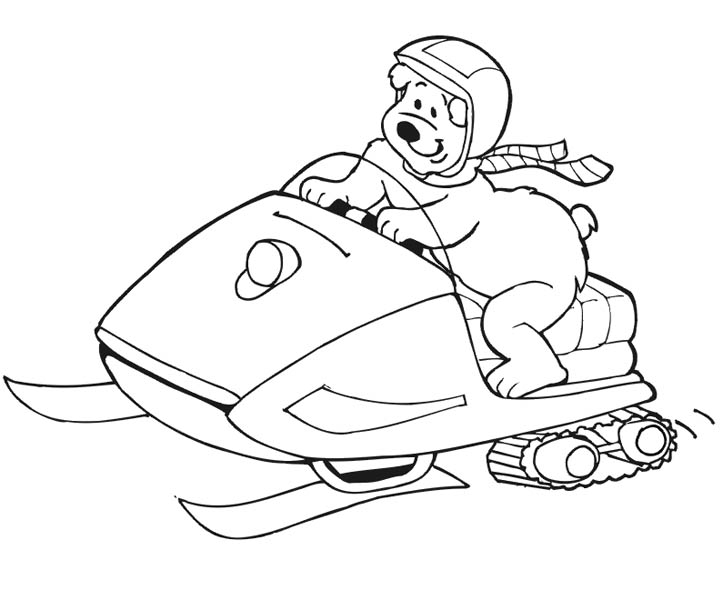 Polar Bear, : Snow Patrol Polar Bear Coloring Page
