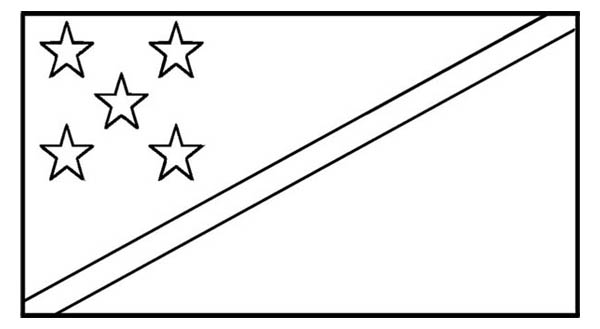Nation Flag, : Solomon Islands Nation Flag Coloring Page