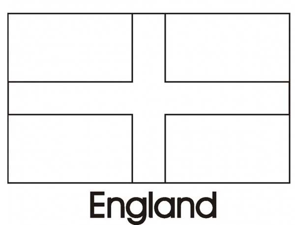 Nation Flag, : United Kingdom Nation Flag Coloring Page