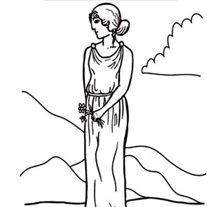Aphrodite Greek Goddess Coloring Page Kids Play Color