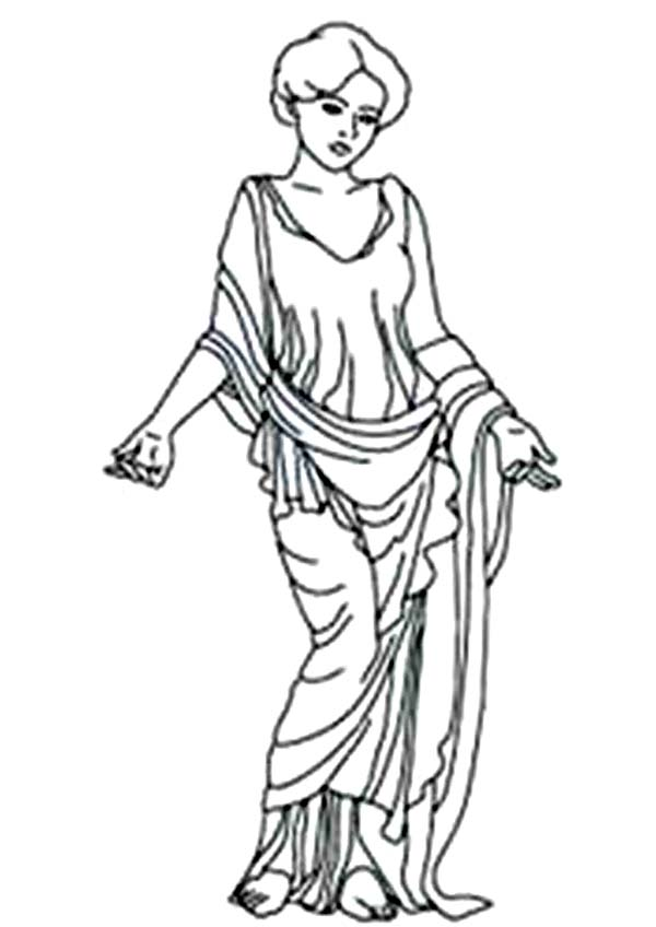 Aphrodite, : Amazing Aphrodite Goddess of Love Coloring Page